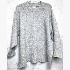 Zara knit • Wool Grey oversized sweater